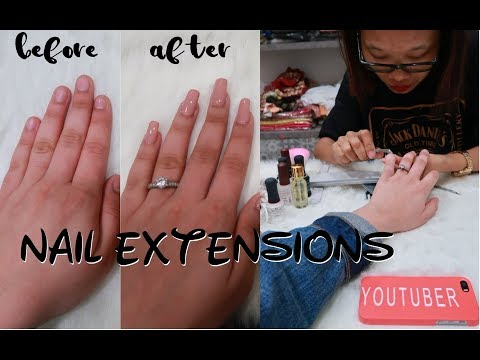 NAILS EXTENSIONS EXPERIENCE | GEL/ACRYLIC EXTENSIONS PROCESS