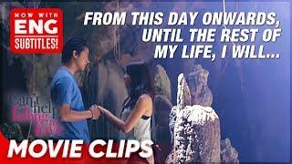 Download lagu Kathryn and Daniel's kilig sumpaan sa kuweba 💙   Can't Help Falling In Love   Movie Clips