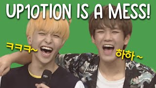 up10tion being clowns on asc