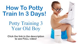 How To Potty Train In 3 Days - Potty Training 3 Year Old Boy