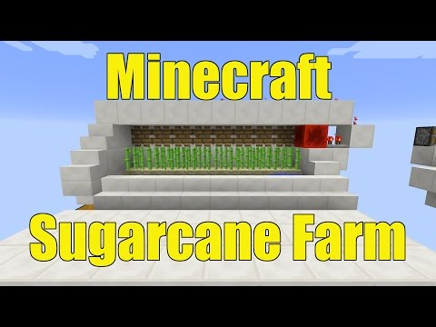 How to Make a Fully Automatic Sugarcane Farm in Minecraft 1.11.2+!