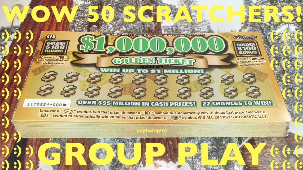 $500 IN GOLDEN TICKET SCRATCHERS ENTIRE BOOK!! California Lotto Scratchers  GROUP PLAY