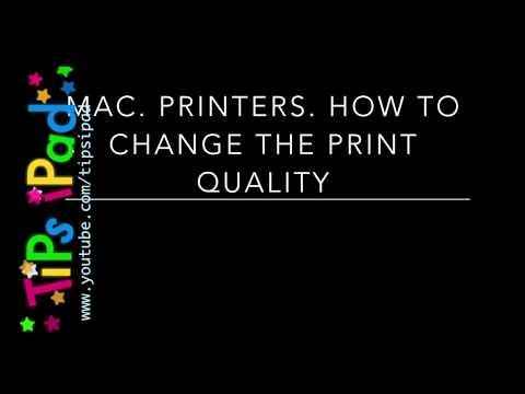 Mac. Settings.  Printer.  Change the default print quality