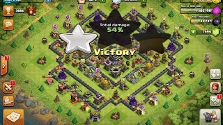 Clash Of Clans : TH 9 Trophy Pushing Base with Replays : Anti Everything