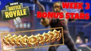 WEEK 3 BONUS STARS LOCATION - SEASON 4 (Fortnite Battle Royale)