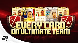 EVERY CARD ON ULTIMATE TEAM! LEGEND EDITION w/ CRESPO AND FIGO!