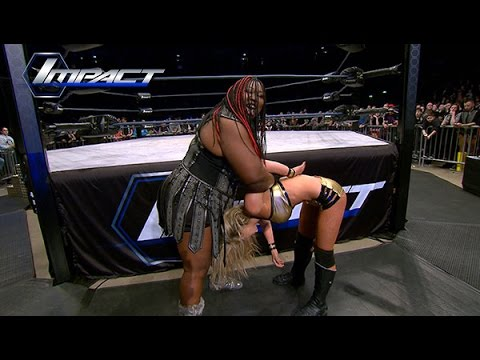 Awesome Kong Destroys Taryn Terrell After Knockout Championship (Mar. 6, 2015)