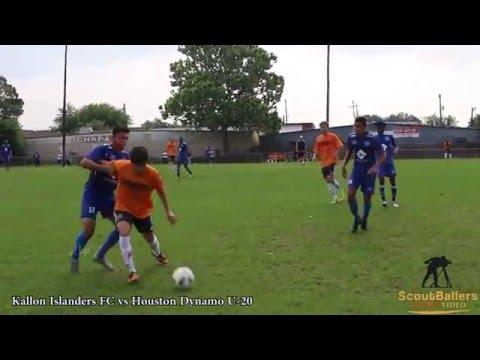 Kallon Islanders FC vs Houston Dynamo, test game 5-21-16