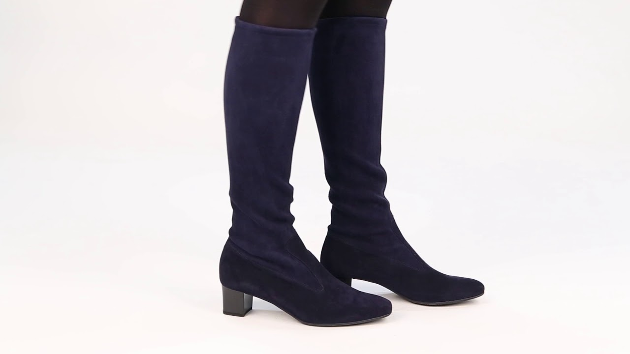9148291ff121d Peter Kaiser Ofela Womens Suede Pull On Classic Long Boots - YouTube