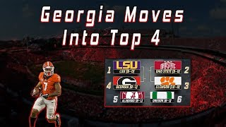 UGA Moves Into Top 4 In CFB Playoff Rankings | Did The Playoff Committee Get This Right?