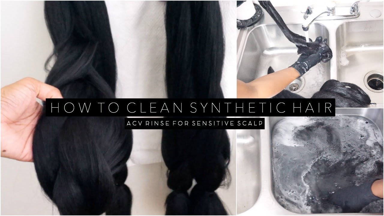 Why You Should Pre-Treat Synthetic Hair With ACV | Makeup com