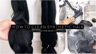 How to Clean Synthetic Braid Hair - ACV Rinse for Naturals w/ Sensitive Skin