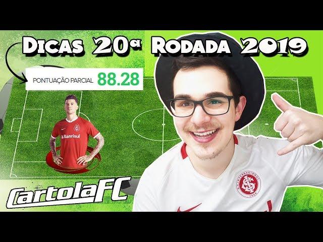 DICAS #20 RODADA | CARTOLA FC 2019 | 1512 PONTOS NO GERAL!!