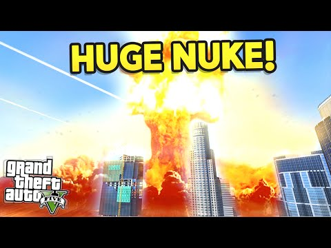 GTA 5 Mods - BIGGEST EVER NUKE EXPLOSION! (GTA 5 Funny Moments)