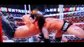 Seth Rollins RKO's Randy Orton Inside Steel Cage At WWE Extreme Rules 2015 REVIEW!