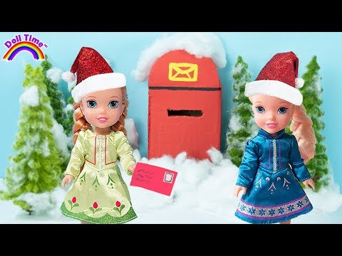 FROZEN Elsa & Anna Christmas Letter  Hide & Seek Toy Hunt