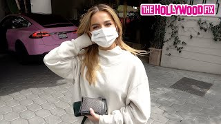Addison Rae Speaks On Her Breakup With Bryce Hall While Leaving Lunch At Sunset Tower Hotel 3.25.21