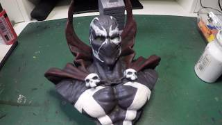 Painting Spawn 3d figure - time lapse