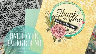 Simon Says Stamp | One Layer Background Card