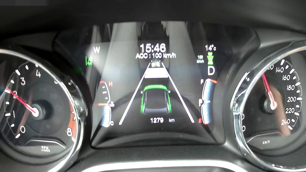 New Jeep Compass ACC Adaptive Cruise Control - YouTube