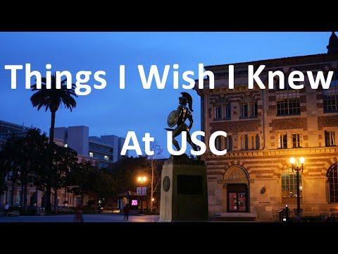 10 Things I Wish I knew at USC | Advice from a USC Grad | College Tips and Advice