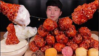 [SUB]BBQ 양념 황금올리브 닭다리 먹방 (BBQ …