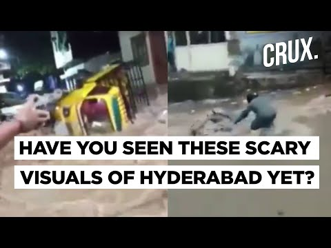 Shocking Visuals of Hyderabad Residents Braving Floods That You May Have Missed | Hyderabad Floods