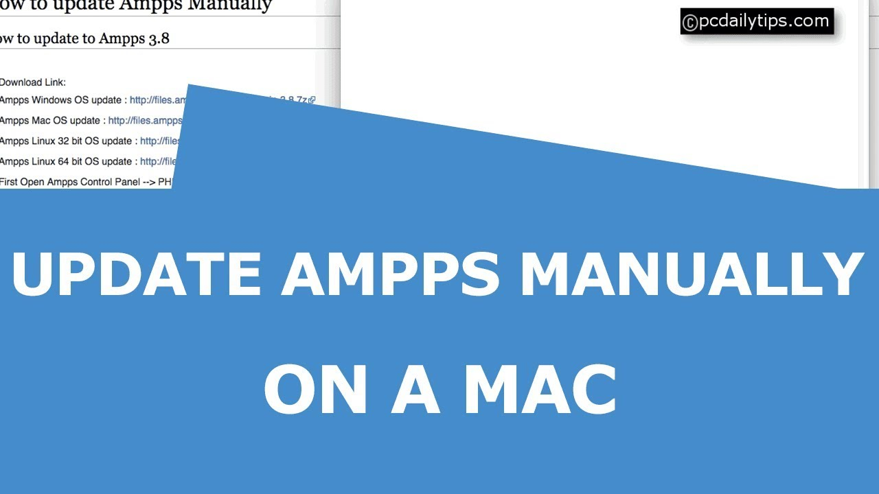 How To Update Ampps Manually