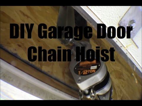Ricksdiy Installing Chain Hoist Attachment Point In Garage