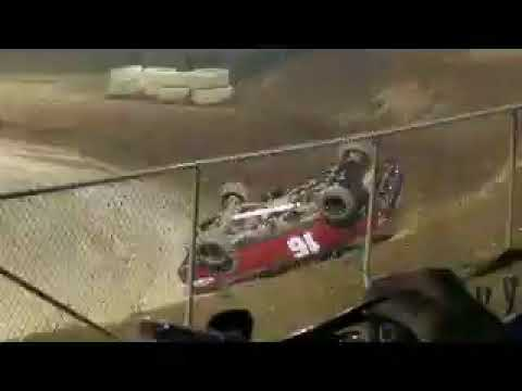 Placerville speedway mini truck roll over #16