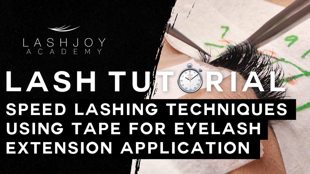 cc24aaf148c Speed Lashing Techniques Using Tape for Eyelash Extension Application  Tutorial