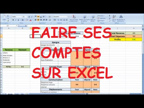 faire ses comptes sur excel youtube. Black Bedroom Furniture Sets. Home Design Ideas