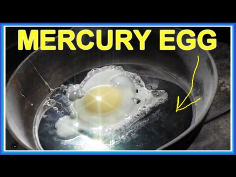 Cooking an EGG on MERCURY (Hg) (highly toxic)