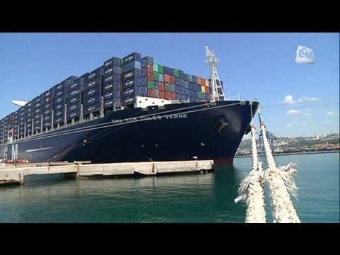 Le plus grand conteneur du monde inaugur par hollande - Le plus gros porte conteneur du monde ...