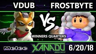 S@X 255 SSBM - Vdub (Fox) Vs. Frostbyte (Ice Climbers) - Smash Melee Winners Quarters