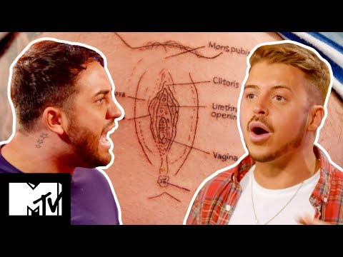 Ryan Ruckledge Kicks BF Hughie Maughan In The Balls Over Gold Digger Tatt | Just Tattoo Of Us 308