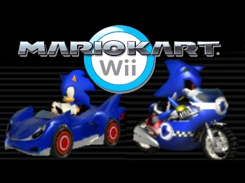 Mario Kart Wii Mods: Sonic and Metal Sonic - YouTube