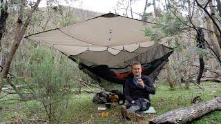 Solo hammock camp in the Australian bush