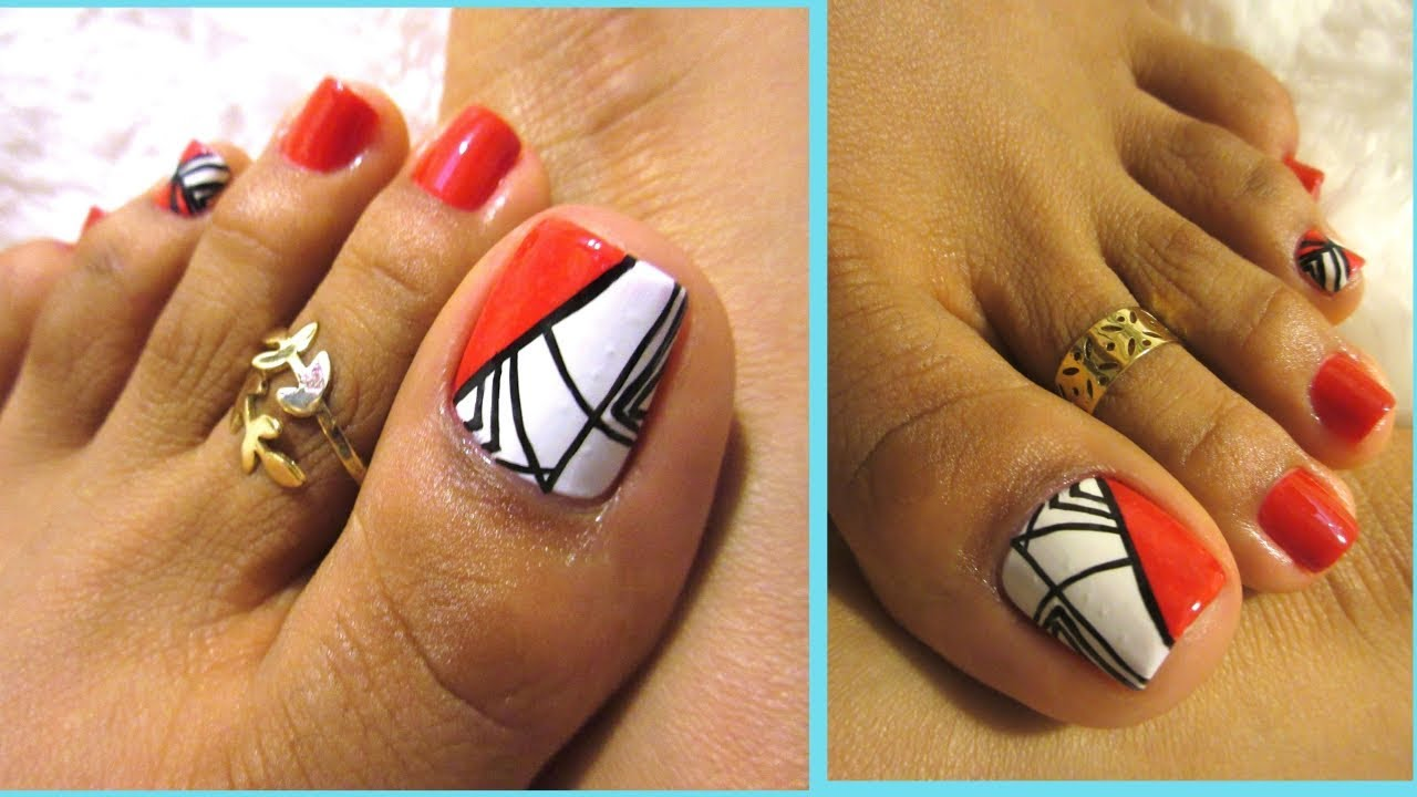 Unas De Los Pies Decoradas Rojo Intenso Uñas Decoradas De Los Pies Red Color Fall Winter Pedicure