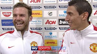 Juan Mata translates for Angel Di Maria