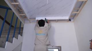 Ceiling panel installation video