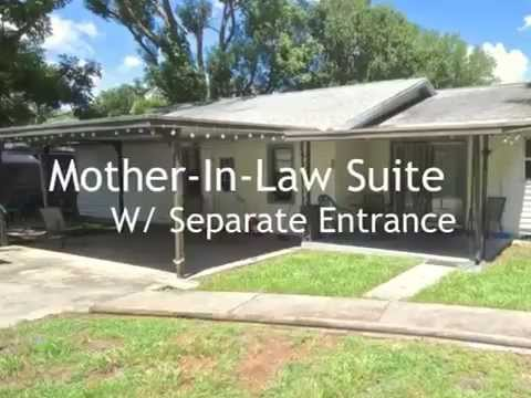 House for sale in law suite oversized lot plant city Modular homes with inlaw apartments