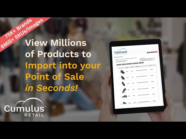 Product Catalog: View Millions of Products to Import into Cumulus Retail Point of Sale!
