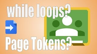 Using a page token to request more data with a while loop
