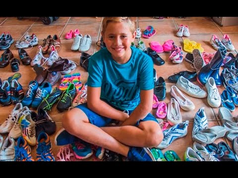 Meet the 9-year-old who's putting shoes on thousands of bare feet