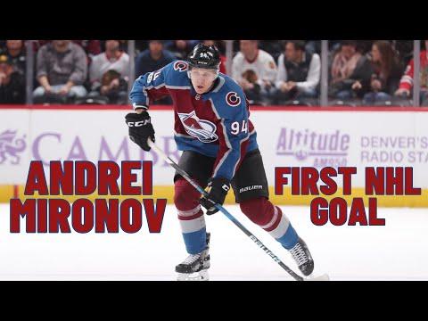 Andrei Mironov #94 (Colorado Avalanche) first NHL goal 18.11.2017