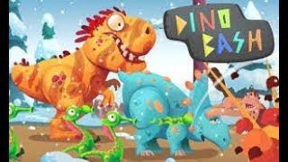 Динозавры Атака Троглодитов #1.DINO BASH Dinosaurs. веселые видео игры как мультики про динозавров.