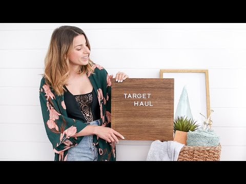 HUGE Target Haul 2019 | Home Decor + Summer Try On Haul!