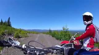 Dirtbiker crashes into BIG hole + Riding up Mt.Washington