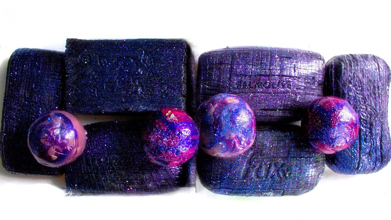 Cosmic ASMR Soap🎆. Crispy varnished balls🤤. Cutting soap cubes😴.